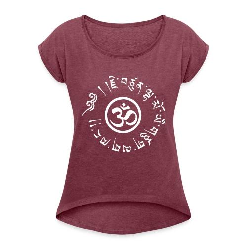 Om tibétain - T-skjorte med rulleermer for kvinner