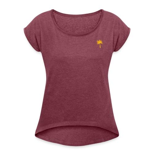 Keep it simple - Yet stylish - T-skjorte med rulleermer for kvinner