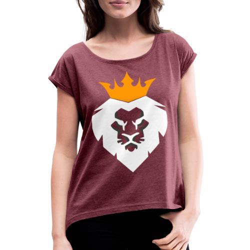 Leo - Frauen T-Shirt mit gerollten Ärmeln