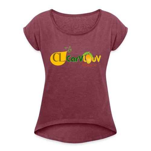 CarVlouV - Camiseta con manga enrollada mujer