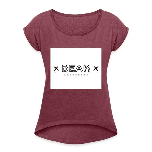 merk BEAR - Vrouwen T-shirt met opgerolde mouwen