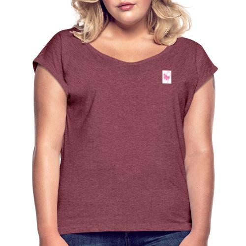 Atuendo femenino - Camiseta con manga enrollada mujer