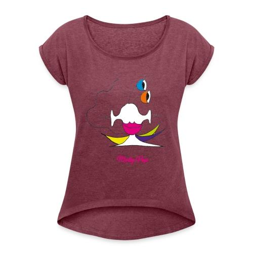 Molly Pop - T-shirt à manches retroussées Femme