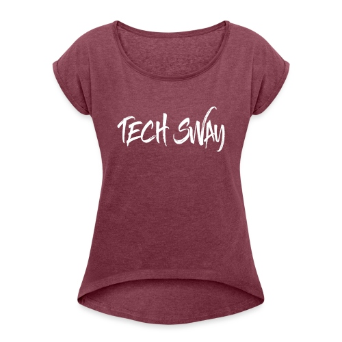 TechSwayWhiteLogo - Women's T-Shirt with rolled up sleeves