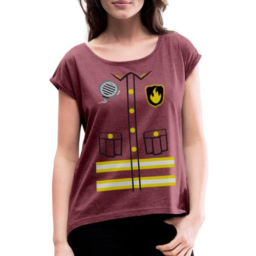 Firefighter Costume - Women's T-Shirt with rolled up sleeves