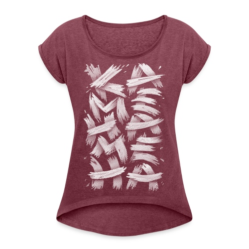 KAMEHAMEHA - Women's T-Shirt with rolled up sleeves