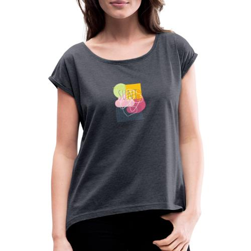 Suntime - Dame T-shirt med rulleærmer