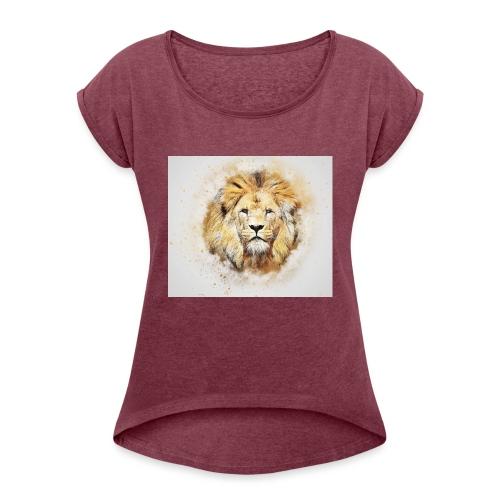 FB55147D 3874 4D36 B070 C9FFB0AB1941 - Frauen T-Shirt mit gerollten Ärmeln