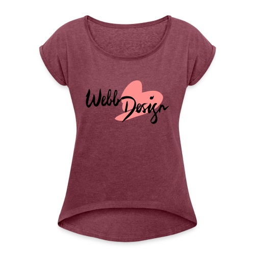 logo webb design uncoted - Frauen T-Shirt mit gerollten Ärmeln