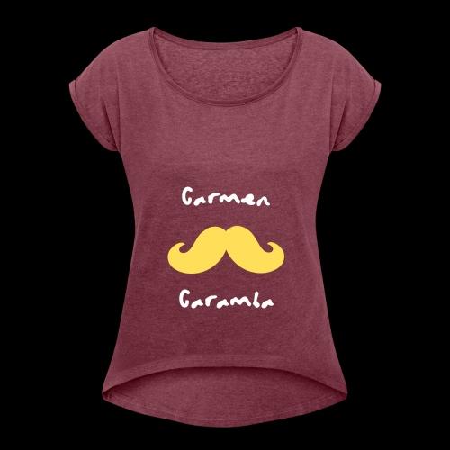 Bigote Caramba - Camiseta con manga enrollada mujer