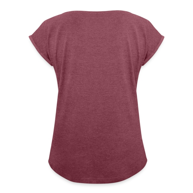 Vorschau: Cat Heartbeat - Frauen T-Shirt mit gerollten Ärmeln