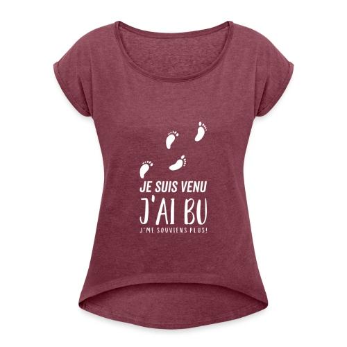 Tshirt Femme / homme - T-shirt à manches retroussées Femme