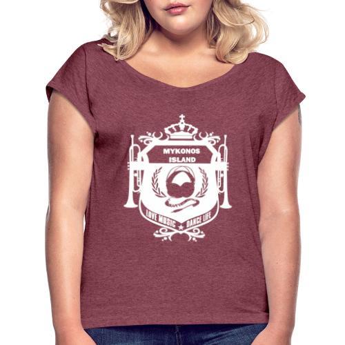 Mykonos Vibes - T-shirt à manches retroussées Femme