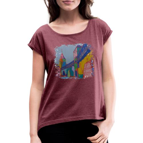 Tallinn - Frauen T-Shirt mit gerollten Ärmeln