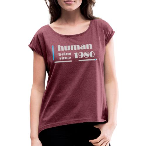 1980 Anniversary Light Gray - Women's T-Shirt with rolled up sleeves