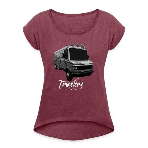 Travelerz 609 - T-shirt à manches retroussées Femme