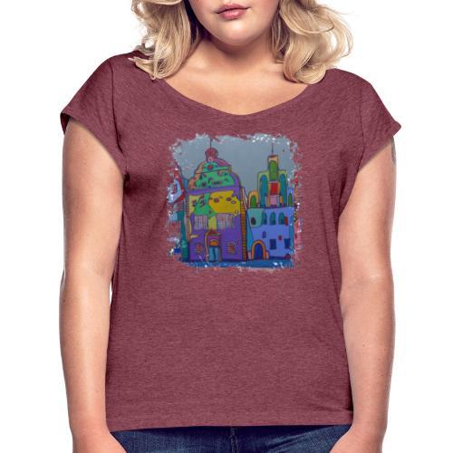 Riga - Frauen T-Shirt mit gerollten Ärmeln