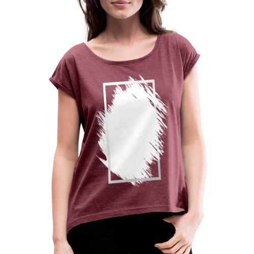 Grunge Rahmen fuer Deine Ideen 2 - Frauen T-Shirt mit gerollten Ärmeln
