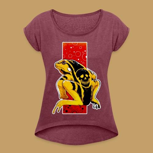 Death Frog - Koszulka damska z lekko podwiniętymi rękawami