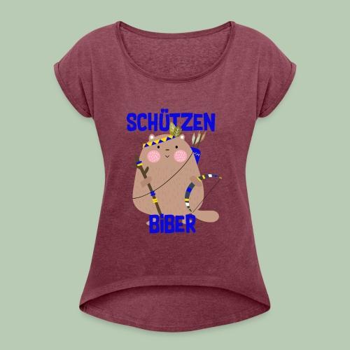 Schützenfest Biber Biberach Biberacher Schützen - Frauen T-Shirt mit gerollten Ärmeln