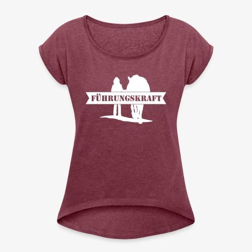 Vorschau: Führungskraft female - Frauen T-Shirt mit gerollten Ärmeln