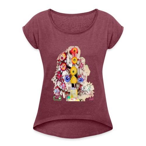 Doctor Rudy Knows Best 4! - Vrouwen T-shirt met opgerolde mouwen
