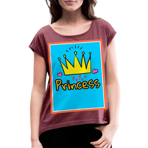 Princess - Camiseta con manga enrollada mujer