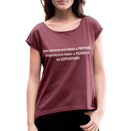 VEGAN - dove prendi le proteine - Maglietta da donna con risvolti