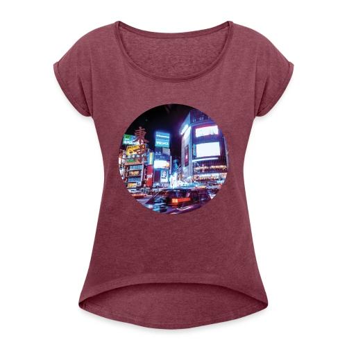 Tokyo Night - T-shirt à manches retroussées Femme