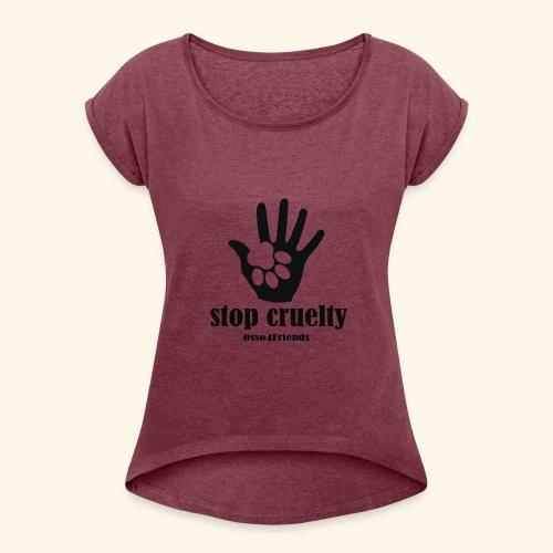 STOP CRUELTY - Maglietta da donna con risvolti