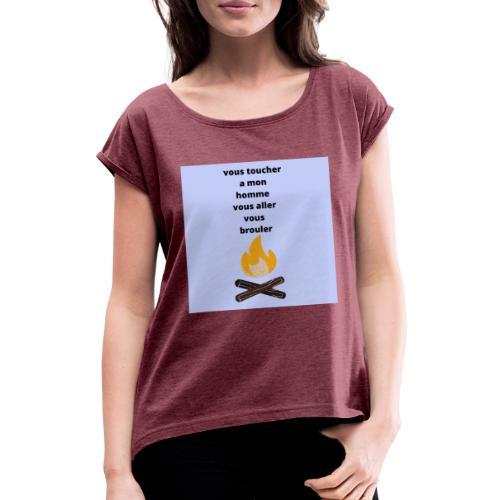 pour homme et femme - T-shirt à manches retroussées Femme