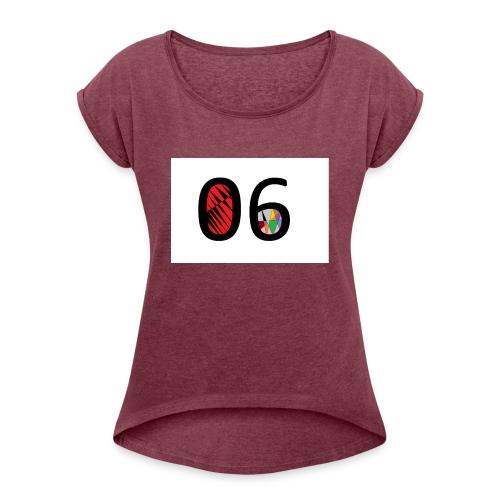 06 Basic - T-shirt à manches retroussées Femme
