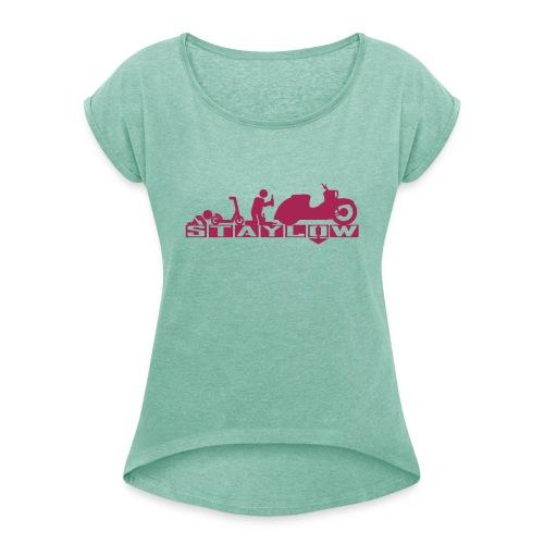 STAYLOW Bier - Frauen T-Shirt mit gerollten Ärmeln