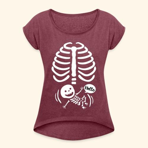 Bebe radiografia - Camiseta con manga enrollada mujer