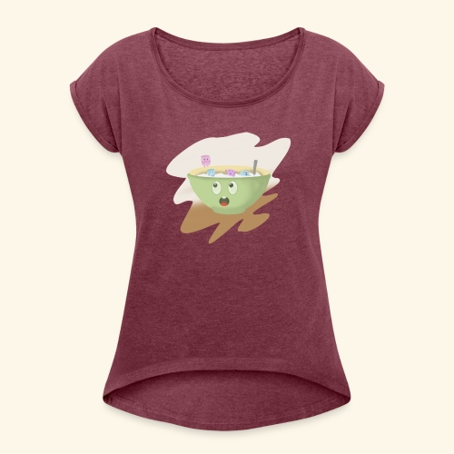 Milk party - Camiseta con manga enrollada mujer