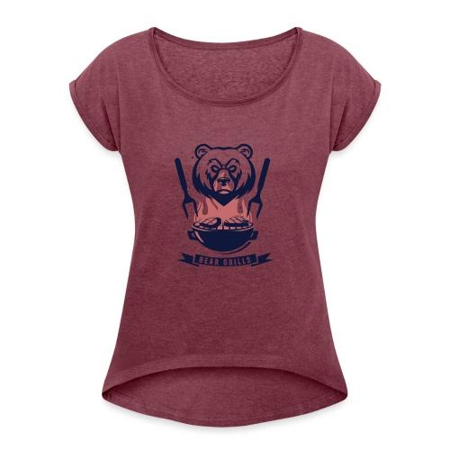 Bear Grills - T-shirt med upprullade ärmar dam