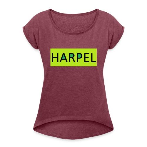 LIMMETTE HARPEL - Frauen T-Shirt mit gerollten Ärmeln
