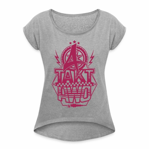 4-Takt-Awo / Viertaktawo - Women's T-Shirt with rolled up sleeves