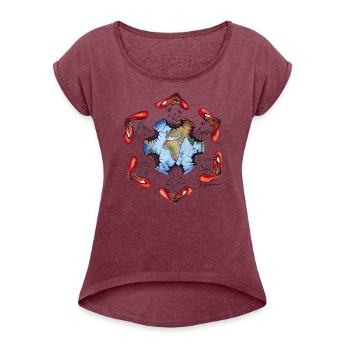 Égoïsme de l'être humain - T-shirt à manches retroussées Femme
