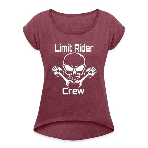 Pully-Format_hinten_Shop - Frauen T-Shirt mit gerollten Ärmeln
