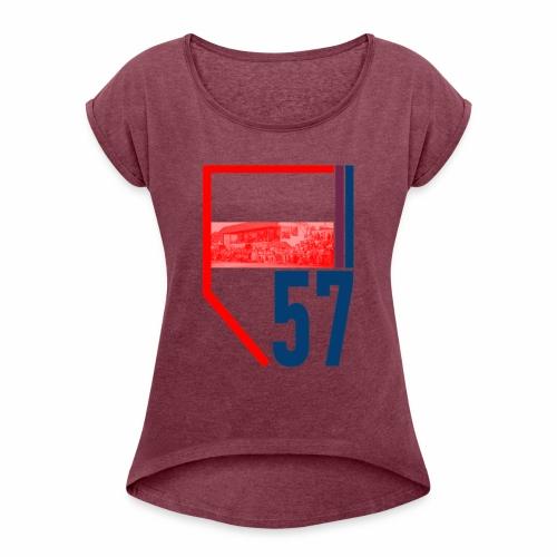 KAV DENDERMONDE - Vrouwen T-shirt met opgerolde mouwen