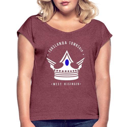 Torslanda township - T-shirt med upprullade ärmar dam