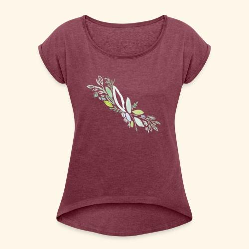 Kra utergarten Ausschnitt - Frauen T-Shirt mit gerollten Ärmeln