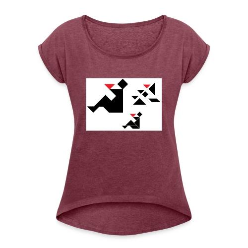 sreadshirt-catalogo-Uomo_con_coppa - T-shirt à manches retroussées Femme