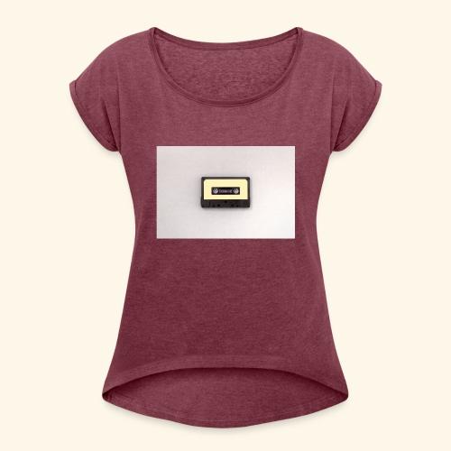 Kassettte - Frauen T-Shirt mit gerollten Ärmeln