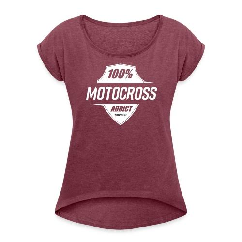 100% Motocross - T-shirt à manches retroussées Femme
