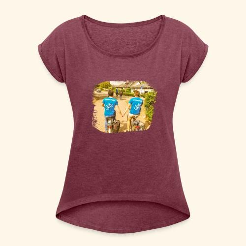 4Ever - Frauen T-Shirt mit gerollten Ärmeln