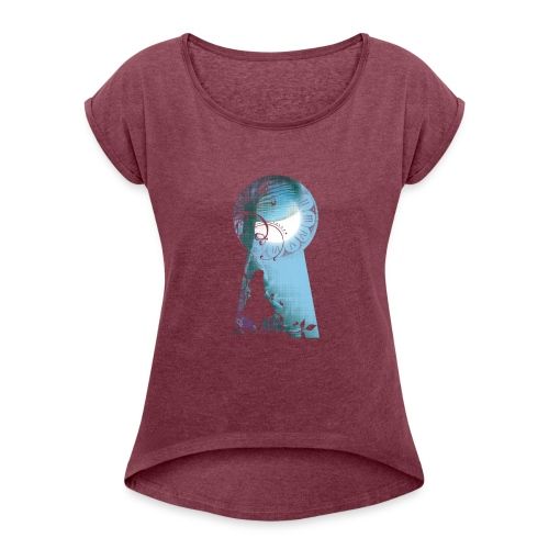 Alice au pays des Merveilles - T-shirt à manches retroussées Femme