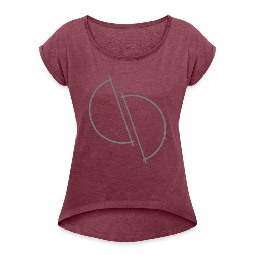 ediplace logo line art - T-shirt med upprullade ärmar dam