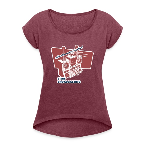 numbers stations hi - Women's T-Shirt with rolled up sleeves